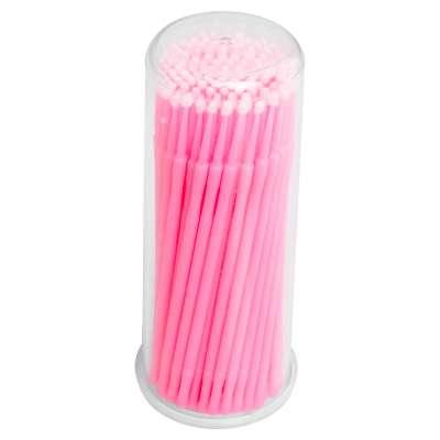 Микробраши в баночке, размер L, 100 шт. Розовые