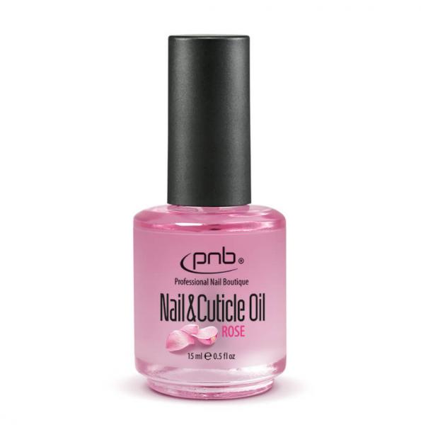 PNB Масло для кутикулы с ароматом розы Nail & Cuticle Rose Oil, 15 мл