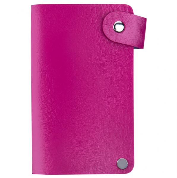 IRISK Кейс-органайзер для стемпинг-трафаретов, 6*12 см., 24 слота, розовый