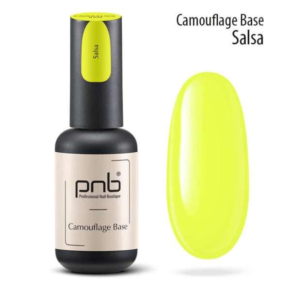 PNB UV/LED Camouflage Base Salsa Камуфлирующая база Yellow, 8 мл.