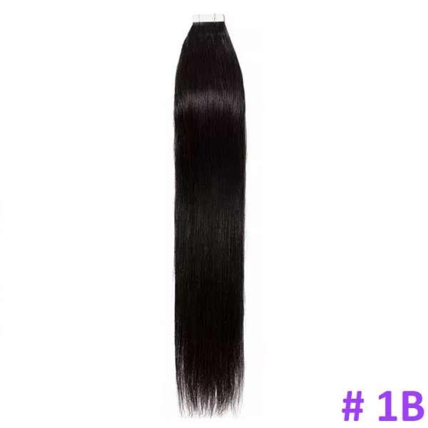 Волосы на лентах, Тон 1 B, 40 см, 20 лент