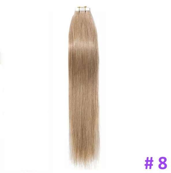Волосы на лентах, Тон 8, 50 см, 20 лент