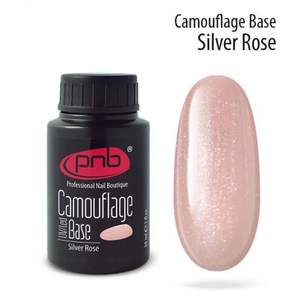 PNB, Camouflage Base Silver Rose - Камуфлирующая каучуковая база, 30 мл.
