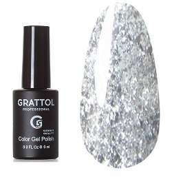 Grattol, Гель-лак Luxury stones, Opal Silver, 9 мл.