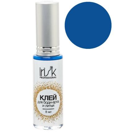Клей цветной, универсальный для фольги, литья и боди-арта, синий 10 мл
