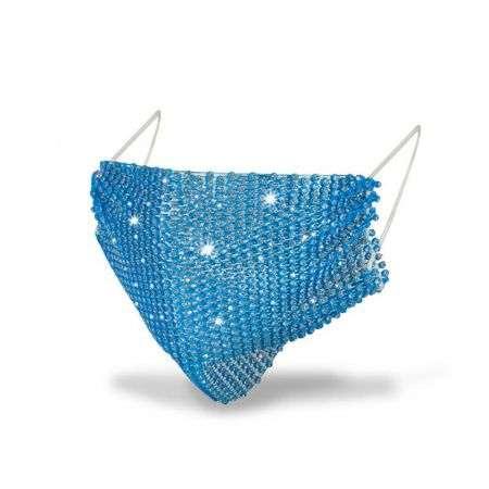 Fashion Mask Маска со стразами многоразовая, Синяя