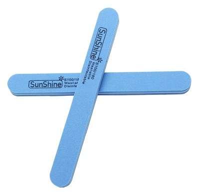 Sunshine Пилка-шлифовка голубая (100/180 грит)