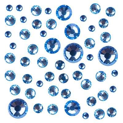 Стразы Crystal Mix размеров Light Sapphire № 1