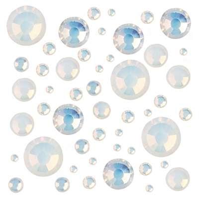 Стразы Crystal Mix размеров White Opal № 9