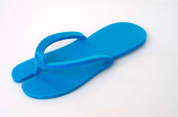 Тапочки пенопропилен 5 мм голубые (вьетнамки), 20 пар