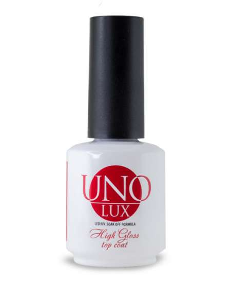 Верхнее покрытие Uno Lux High Gloss Top Coat, 15мл