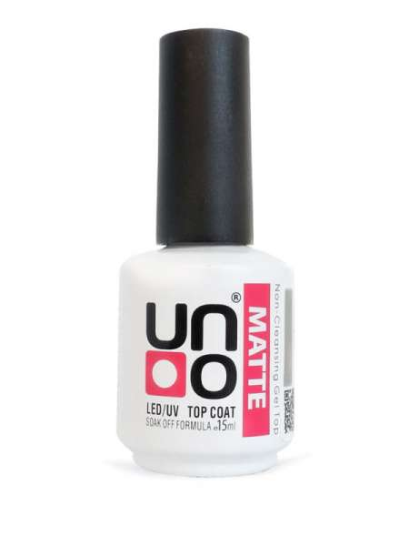 Верхнее покрытие для гель-лака «Uno — Matte», матовое — 15мл.