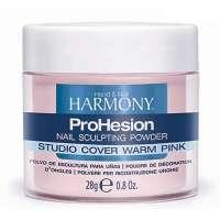 Harmony Studio Cover Warm Pink Powder, 28 g - камуфлирующая насыщенно розовая акриловая пудра, 28 г