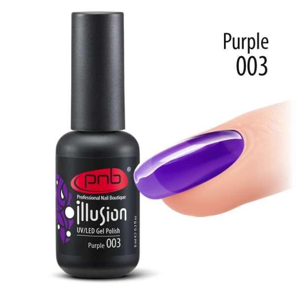 PNB - Витражный гель-лак № 3, Purple, 8 мл.