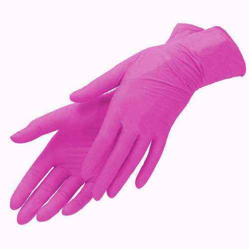 Mediok Перчатки нитриловые, ягодный розовый, размер M, 100 шт.