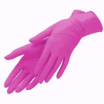 mediOk, Нитриловые перчатки ягодный розовый, размер XS, 100 шт.