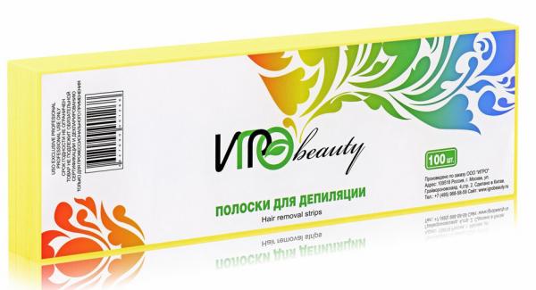 Igro, Полоски для депиляции, желтые, 100 шт.