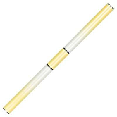 Кисть для PolyGel, овальная с лопаткой, в тубе, желтая