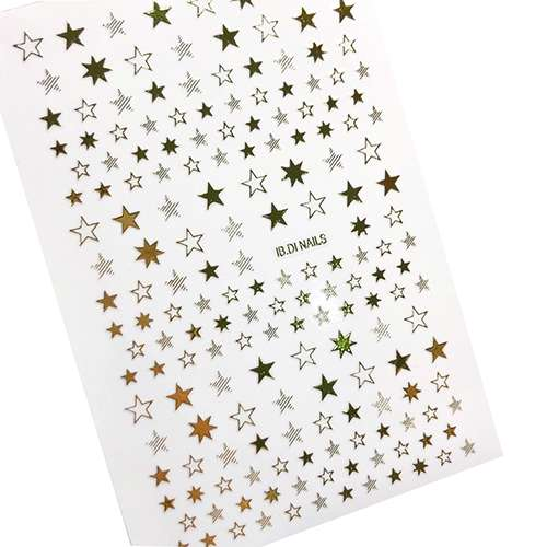 """Наклейки """"Звезды"""", для ногтей, золото."""